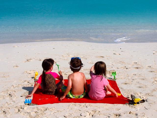 Family, beach, Travel