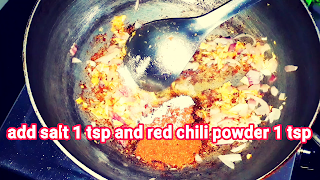 image of adding salt and red chili powder