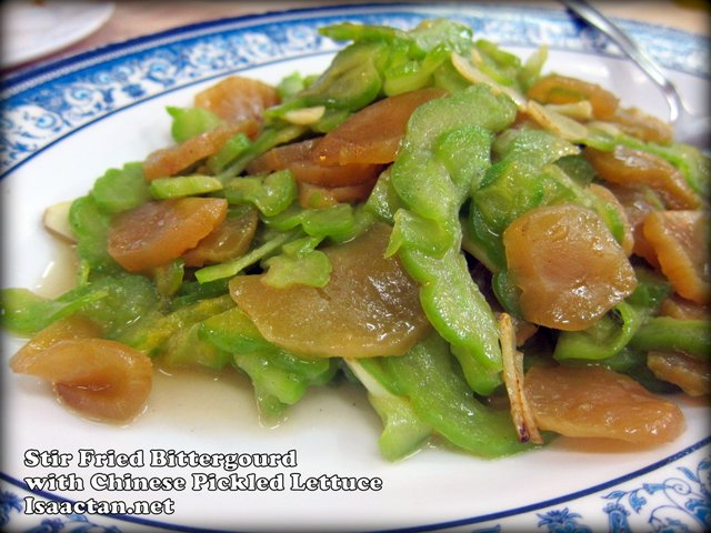 Stir Fried Bittergourd with Chinese Pickled Lettuce