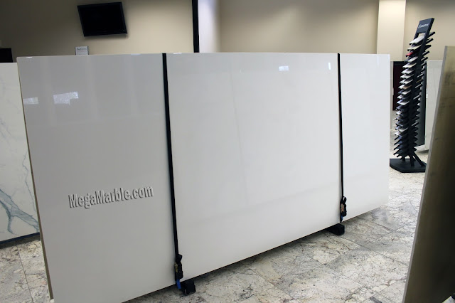 White Porcelain Slabs For Countertops & Shower Walls