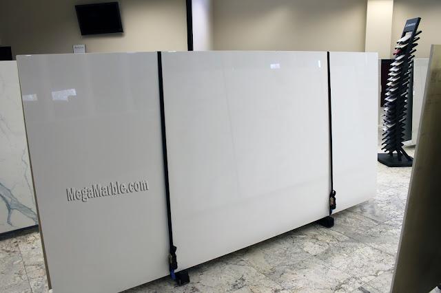 White Porcelain Slabs For Countertops & Shower Walls