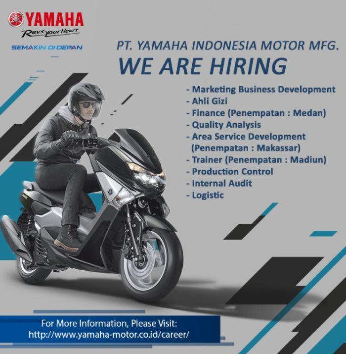 Lowongan Kerja PT. Yamaha Indonesia Motor MFG Desember 2016