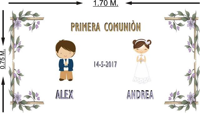 Alfombra personalizada para portal Primera Comunion