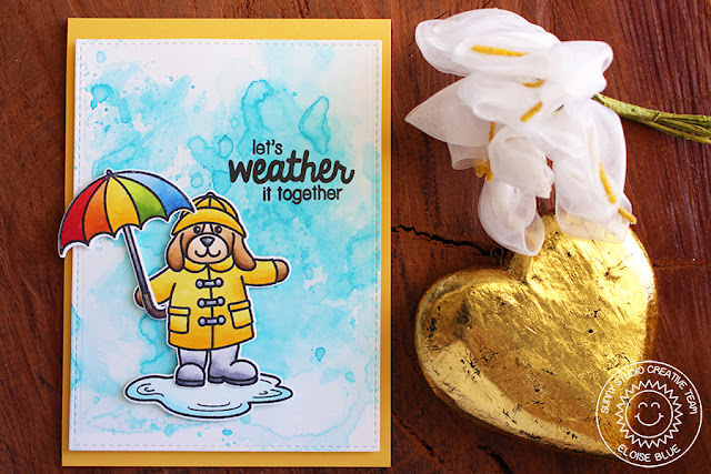 Sunny Studio Stamps: Rain or Shine Let's Weather It Together card by Eloise Blue.