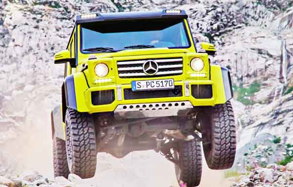 Mercedes-Benz G550 4x4²: off-road class coming to America in 2017