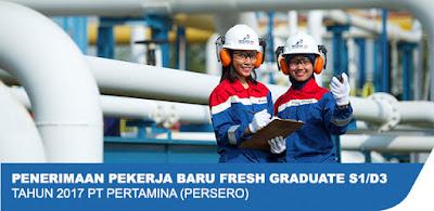 Penerimaan Pekerja Baru PT Pertamina (Persero) Tingkat D3 dan S1