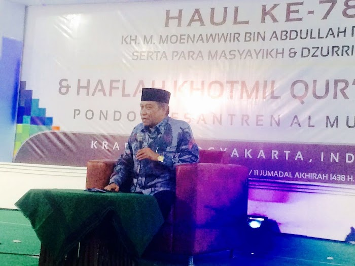 Haul Kyai Moenawwir Krapyak, Kyai Said: Saatnya Lakukan Penguatan Budaya Dan Cinta Tanah Air Untuk Pengembangan Islam