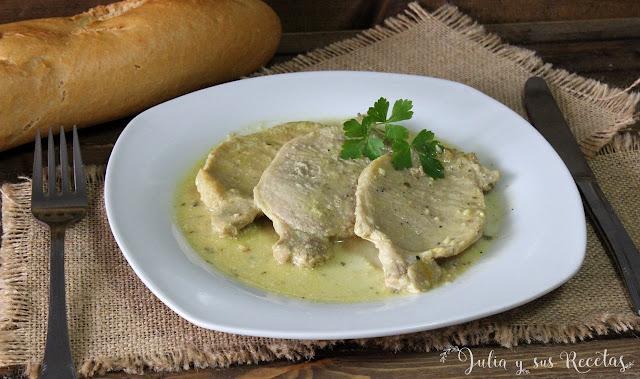 Lomo en salsa de mostaza. Julia y sus recetas