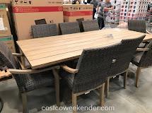 9-piece Teak Dining Set Costco Weekender