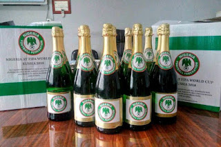 Sport: Nigeria vs Zambia!  Super Eagles to celebrate qualification with customized champagne [PHOTO]