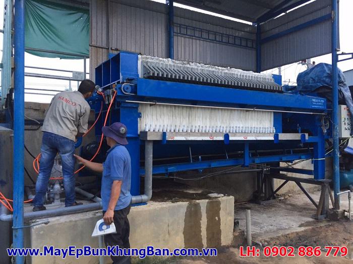 Một máy ép bùn khung bản giá rẻ, may ep bun gia re được cung cấp cho nhà máy ô tô SAMCO