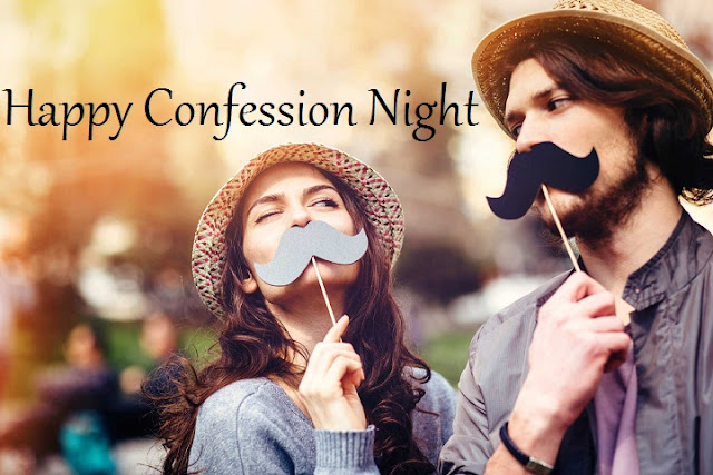 Confession Day Good Night Whatsapp Status DP