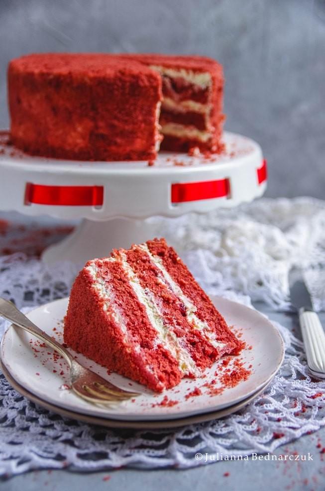 Red Velvet Cake Tort O Aksamitnym Smaku Obiad Gotowy