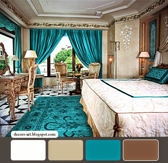 Bedroom decorating ideas turquoise