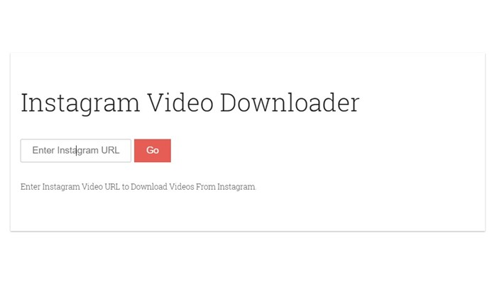 Download Instagram Videos web