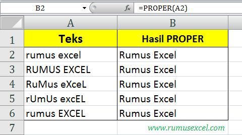 Proper di Excel
