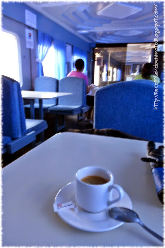 café en vagón cafetería Vía Verde de La Jara