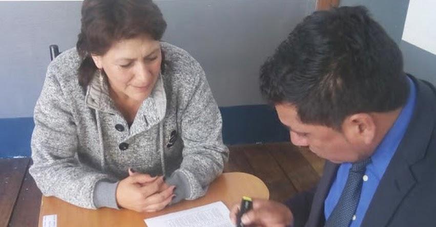 UGEL Santiago de Chuco adjudicó Auxiliares de Educación 2018
