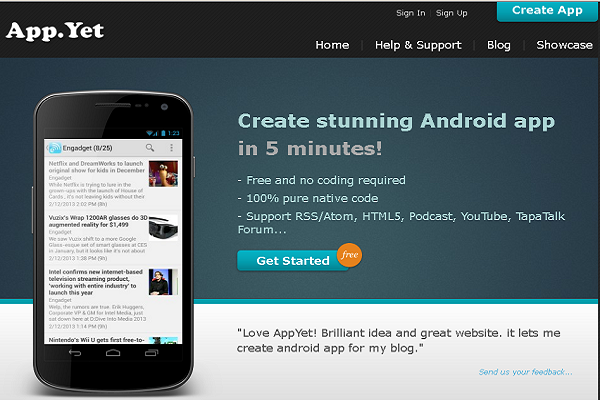 appyet creat mobile apps