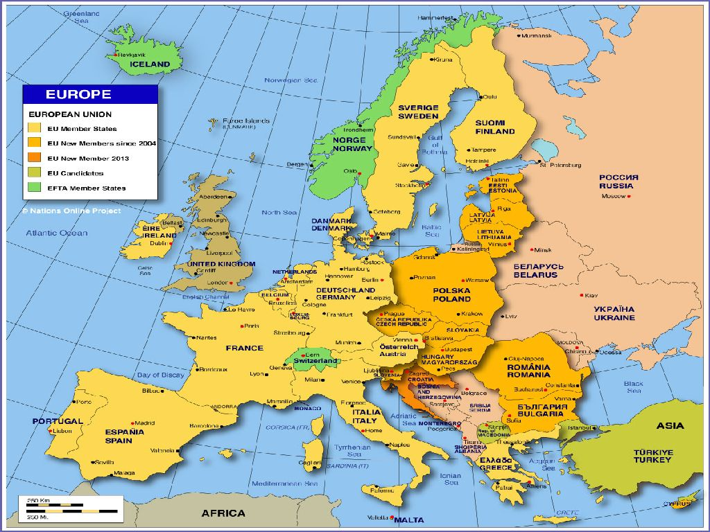 images map of europe