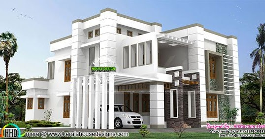 4000 Sq Ft Contemporary House Architecture Kerala Home