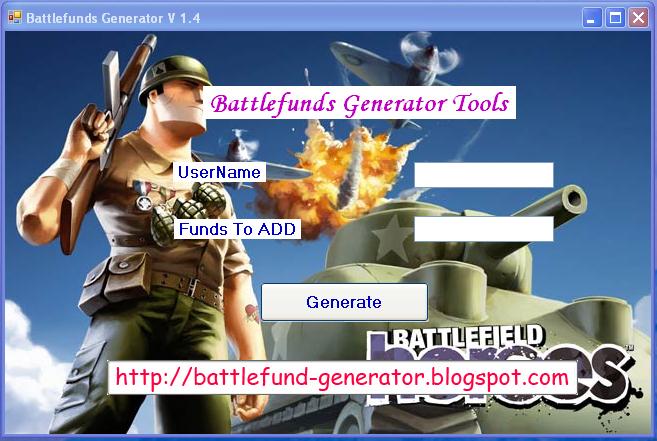 battlefunds generator