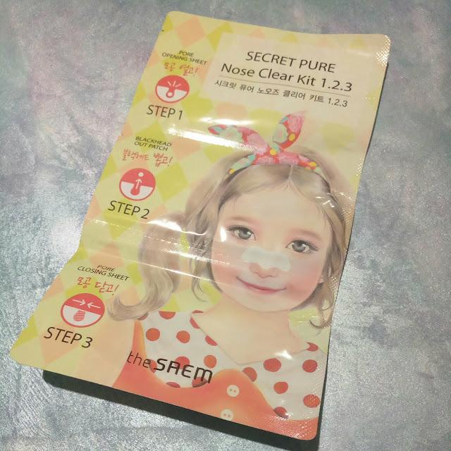 The Saem  Secret Pure  Nose Clear Kit 1.2.3. Набор для очистки пор