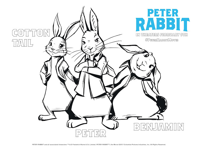 Sony Pictures Animation Childrens Movies Beatrix Potter Activity Pages Free Coloring Sheets