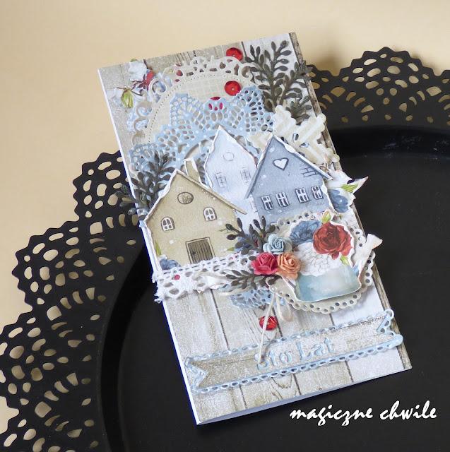 Kartka z domkami