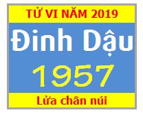 Tử Vi Tuổi Đinh Dậu 1957 Năm 2019 Nam Mạng -Nữ Mạng