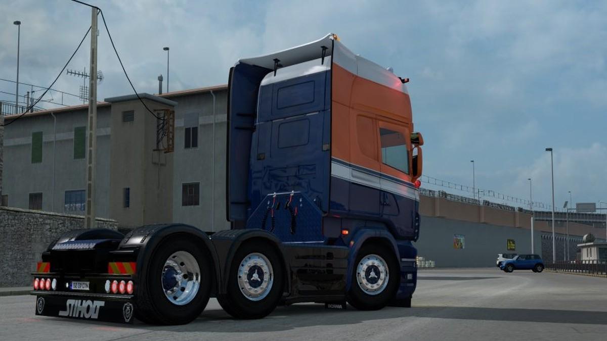 Scania RJL Orange & Blue Skin
