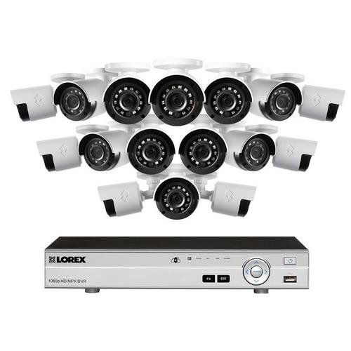 Lorex, LX1080-166W 1080p 16 Channel HD Security Camera System with 16 1080p Outdoor Cameras
