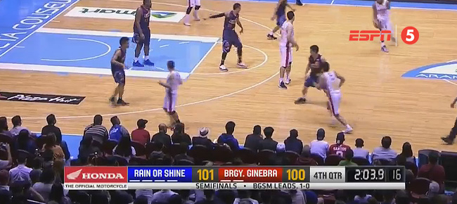 Rain or Shine def. Ginebra, 109-100 (REPLAY VIDEO) Semis Game 2 / July 19