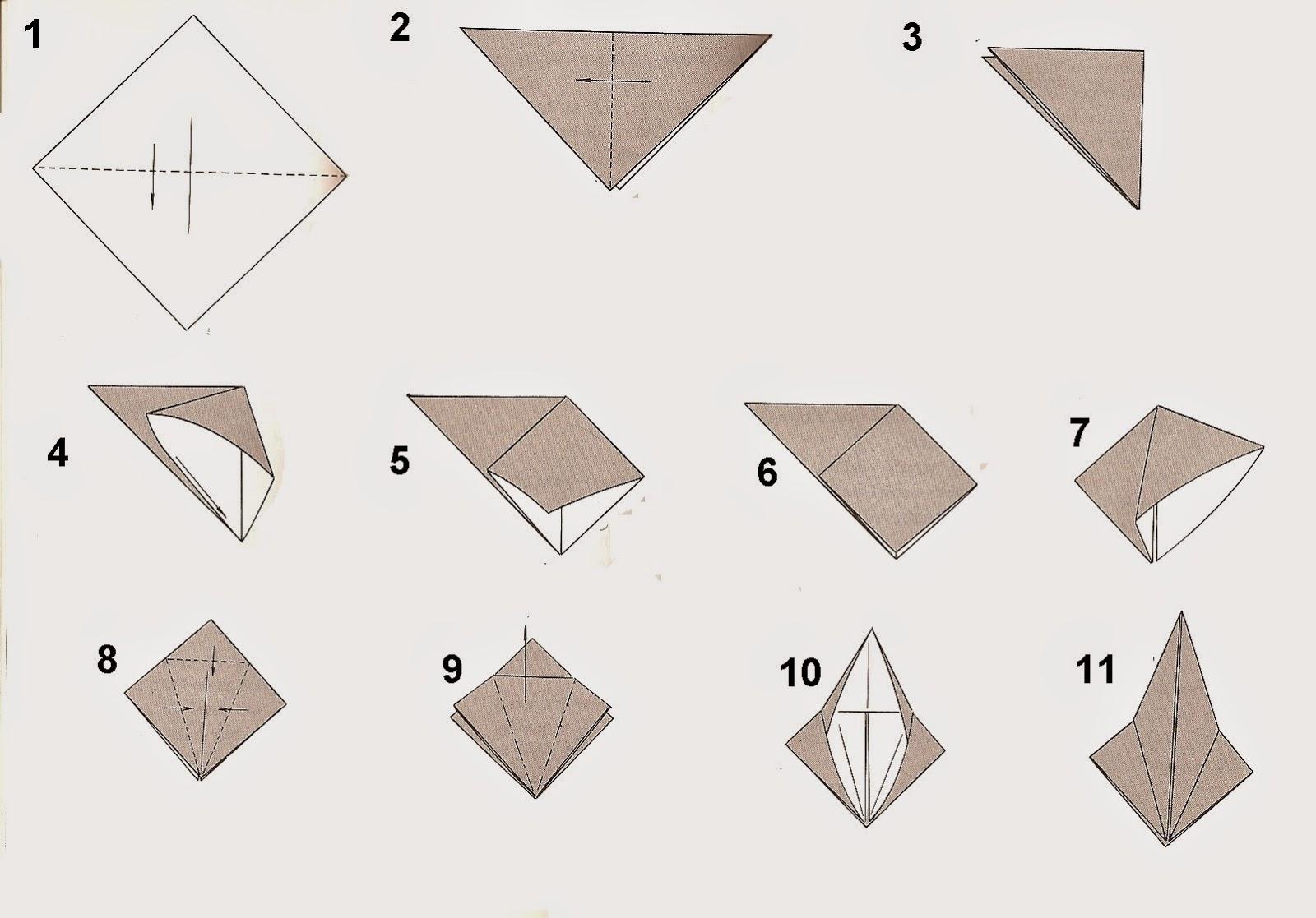 Cara Membuat Burung  dari  Kertas  Origami IBoxe
