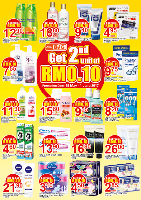 Malaysia AEON BiG 2nd Unit RM0.10 Discount Offer Promo