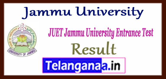 Jammu University Entrance Result 2018 Merit List