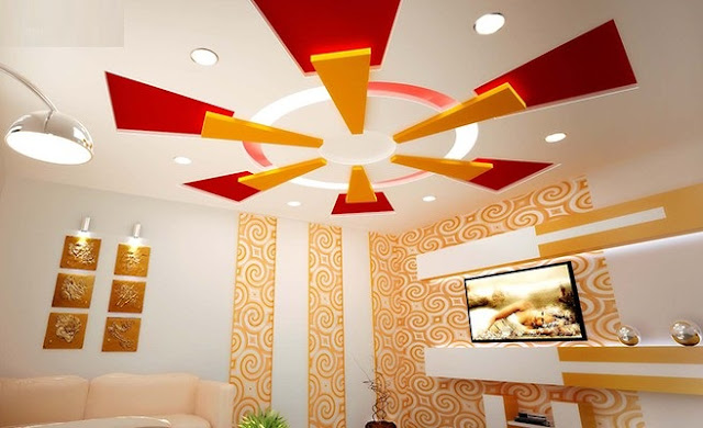 Plaster of Paris design - POP false ceiling designs for living room