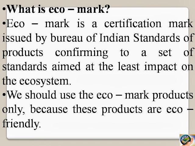 What Is Eco >> Omtex Classes What Is Eco Mark