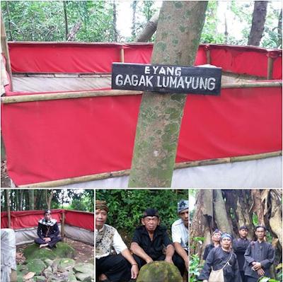 Eyang Gagak Lumayung Anu Sumare di Gunung Padang Darmaraja