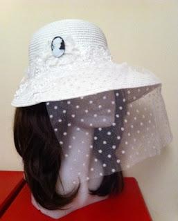 beyaz nikah şapkası cameo aksesuar