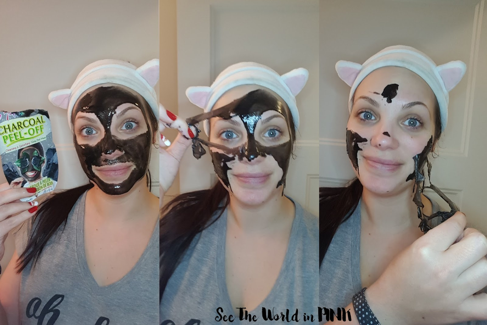 Mask Wednesday - 7th Heaven Charcoal Peel Off Masque Review