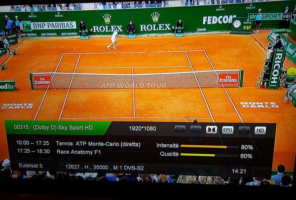 Sky Sport HD - MultiStream - Eutelsat Frequency