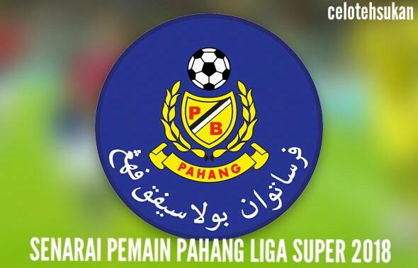 Senarai Pemain Pahang 2018 Liga Super