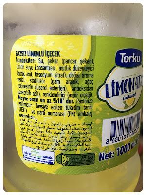 Torku Gazsız Limonlu içecek