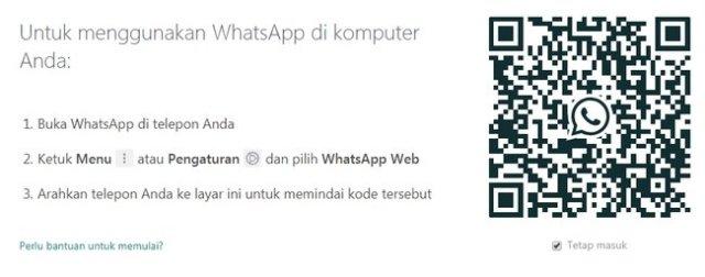 Tampilan barcode di whatsapp