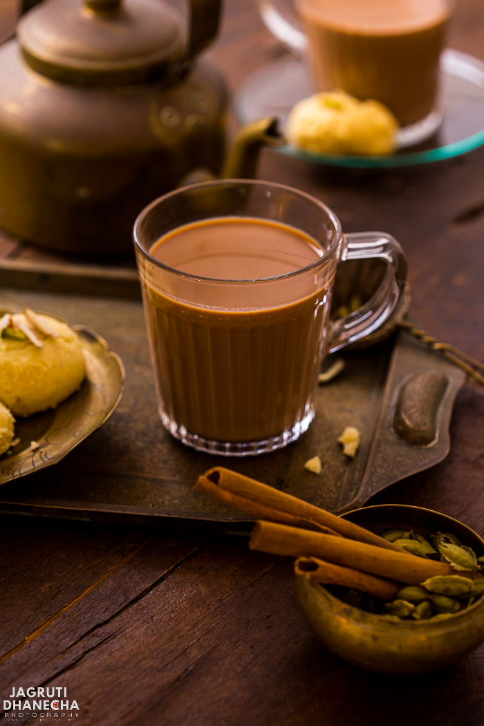 A cup of Karak Chai or Chai Karak is just what you need in the morning to face the day. Strong, spiced and mildly sweet, this easy Karak Chai takes less than 10 minutes to make. Make this delicious and strong tea using loose black tea, sugar, whole spices and milk. #chaitime #chaitea