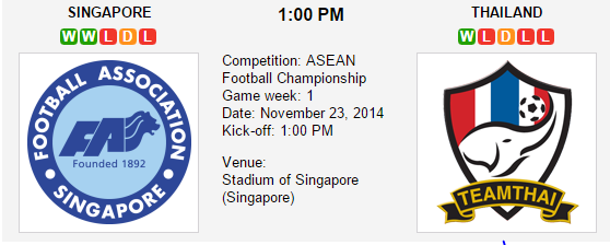 Singapura vs Thailand