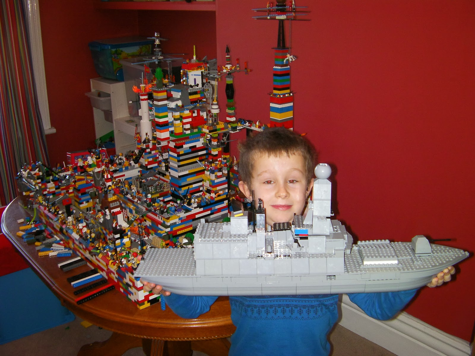 lego ship and castle