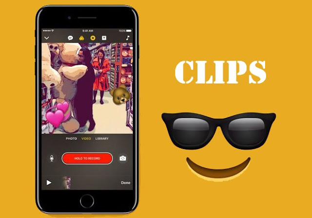 Clips helps making and sharing fun videos with text, effects, graphics and more on iOS devices running iOS 10.3 or later