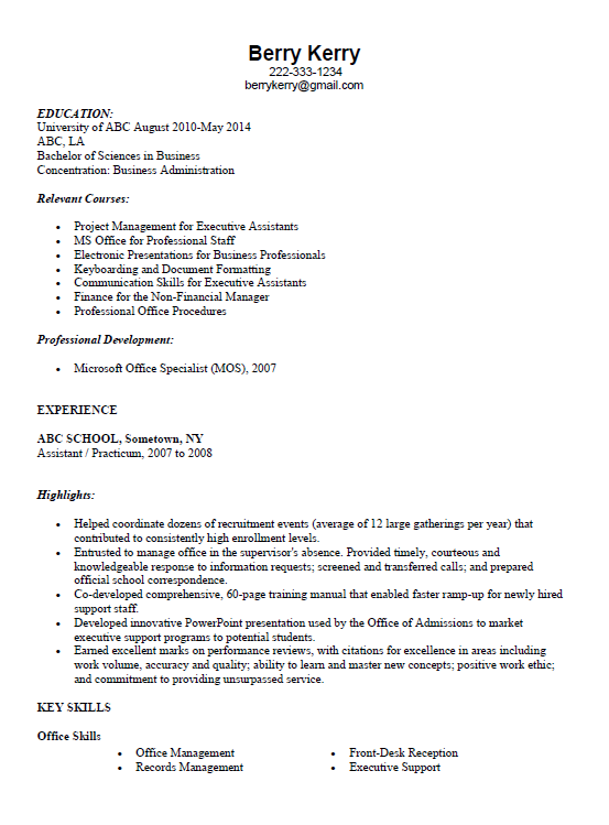 Resume writing for doctors